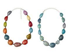 Tagua Batik Necklaces . $69.00