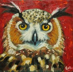 Owl Painting by Roz