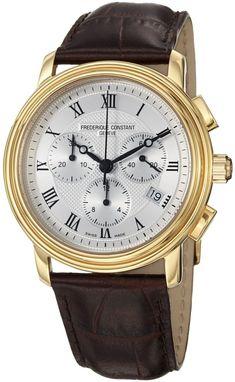 Frederique Constant Watch Chronograph #25-percent #bezel-fixed #bracelet-strap-leather #brand-frederique-constant #case-depth-10-2mm #case-material-yellow-gold #case-width-40mm #chronograph-yes #date-yes #delivery-timescale-call-us #dial-colour-silver #gender-mens #luxury #movement-quartz-battery #official-stockist-for-frederique-constant-watches #packaging-frederique-constant-watch-packaging #sale-item-yes #style-dress #subcat-classics #supplier-model-no-fc-292mc4p5…