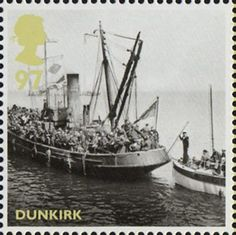 Britain Alone 97p Stamp (2010) Dunkirk - Boats from Evacuation