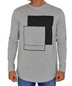19e3970e415c Ανδρική μακρυμάνικη μπλούζα με στάμπα γκρι 06310L #torouxo #αντρικαρουχα