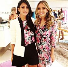 Estampa floral sucesso da coleção Inverno 2014. A blogueira Dani Mello e a Lelê Saddi vestem Fillity. ♡ #fillity #fillityinverno2014 #inverno2014fillity
