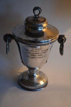 Large Vintage Silver Loving Cup Trophy Urn