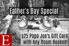 """""""He's not the only guy in the universe....but he's the only one that matters."""" Show your """"only one"""" how much he matters to you by treating him to a stay at Essence Suites! And remember, now through Father's Day, you get a FREE $25 Papa Joe's Italian Restaurant gift card with ANY room booked! #EssenceSuites #FathersDay2017 #OnlyOne #YoureTheOne #TheGuyForMe #PapaJoes #GiftCard #OrlandPark #CouplesGetaway #BeautifulSuites #Romance"""