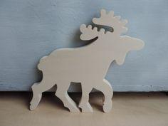 Weihnachtsdeko - Elch Holz Winter Weihnachten Dekoration - ein Designerstück von good-in-wood bei DaWanda