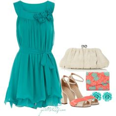 coral and turquoise weddings - Google Search