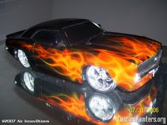 images of cars painted with flames | True Fire Flames on RC Car - CustomPainters.org
