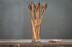 USA, 1960s, Vintage Ludlow Archery Arrows Display.   http://lnk.al/1Zi0