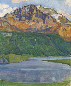 Ferdinand Hodler. Piz Corvatsch Oil on canvas.1907