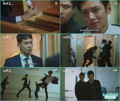 doctor suk han take the usb and run while je ha knock down the guards who are holding him hostage  - The K2 - Episode 14 (Eng Sub)