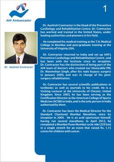 Dr. Aashish Contractor, HOD - Preventive Cardiology and Cardiac Rehabilitation