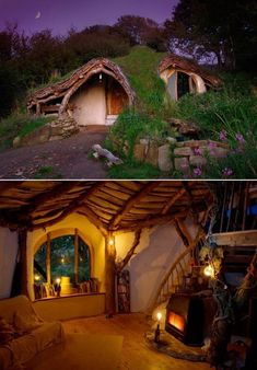 this is in England and the people actually built it all by themselves from recycled materials. so great! http://www.simondale.net/house/index.htm