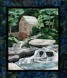 Old Gristmill pieced quilt pattern by Cynthia England at England Design