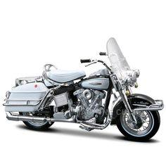 Miniatura Moto Harley-Davidson 1966 FLH Electra Glide Maisto 1:18