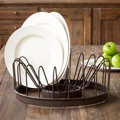 This wire plate rack is a plate rack that looks great and is super functional. Use this wire plate rack to display your favorite vintage plates or dry your every day plates. For more visit, www.decorsteals.com OR www.facebook.com/decorsteals