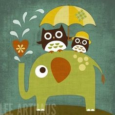 love the owls and elephants -- trying to decide, owls or butterflies
