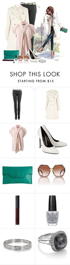 """""""Chic Girl Shows Her Ankles"""" by exxpress ❤ liked on Polyvore featuring Karen Millen, French Connection, Yves Saint Laurent, Deborah Barnet, Tory Burch, NARS Cosmetics, OPI, Michael Kors, Astley Clarke and Wallis"""
