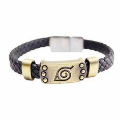 Cheap braided leather bracelet, Buy Quality leather bracelet directly from China alloy bracelet Suppliers: Naruto Braid Leather Bracelets & Bangles Hot Anime Akatsuki Itachi Konoha Logo Alloy Bracelet Wristband Cosplay Jewelry Braided Bracelets, Metal Bracelets, Bracelets For Men, Fashion Bracelets, Bangle Bracelets, Silver Bracelets, Moda Geek, Naruto Merchandise, Leather Wristbands