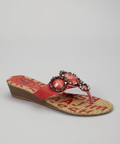 Take a look at this Red Norma Sandal by Carrini on #zulily today!