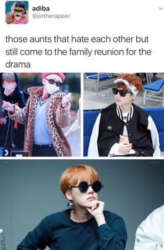 I love u fandom :') / But helll, it's accurate | BTS - aunt Taehyung, aunt Yoongi and aunt Hoseok