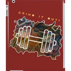 GRIND IT OUT! IPAD CASE  #ipadcase #samsungcase #phonecases #grinditout #grindit #gymjunkies #bodybuildingstyle #fitnessmotivationquotes #liftingweights #fitnessfreaks #workoutswag #rippedmuscles #abstractpainter #novelnicola #redbubblecreate #vancouverislandartist #instafit