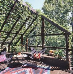Section Your Shade Build an inexpensive, rustic pergola that can support climbing vines. It will provide shade and a feeling of privacy Section Your Shade Build an inexpensive, rustic pergola… Diy Pergola, Building A Pergola, Pergola With Roof, Cheap Pergola, Wooden Pergola, Outdoor Pergola, Covered Pergola, Outdoor Rooms, Outdoor Gardens