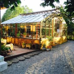 sunshine on the greenhouse