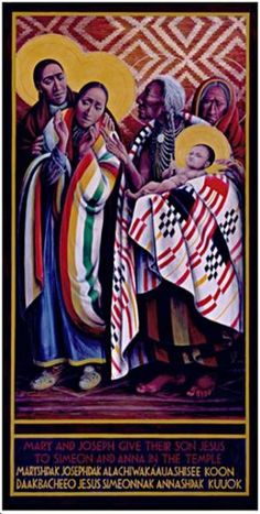Mary & Joseph give Jesus to Simeon & Anna