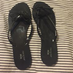 Melissa x Jason Wu  colab: Jelly Flip Flop Sandals A Melissa flip-flops collaboration with Jason Wu. The perfect little black sandal with cute black bow!   Rubber sole. Made in Brazil.  Never worn ✅ accepting offers Melissa Shoes Sandals