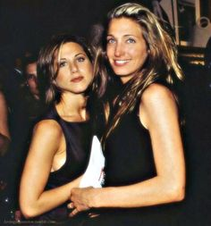 A sweet younger JENNIFER ANISTON with beautiful CAROLYN BESSETTE KENNEDY