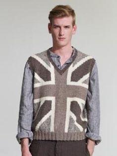Free Knitting Pattern - Men's Vests: Union Jack Slipover