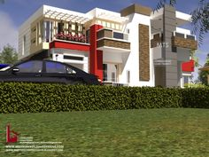 1 new message Beautiful House Plans, Beautiful Homes, Duplex Design, House Design, Duplex House Plans, Building Design, Modern Architecture, Modern Contemporary, Mansions