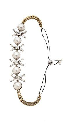 Favorite Spring accessory LELET NY XO Crystal Headwrap