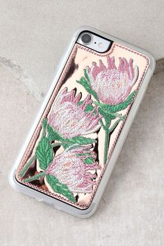 Zero Gravity Flora Rose Gold Embroidered iPhone 7 Case
