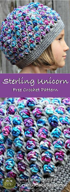 Unicorn Free Crochet Patterns Krazykabbage We are want to say thanks if you like to share this post to another people via your faceboo Baby Knitting Patterns, Crochet Beanie Pattern, Crochet Unicorn Hat, Kids Crochet Hats Free Pattern, Knitting Hats, Unicorn Pattern, Crochet Girls, Crochet For Kids, Cowls