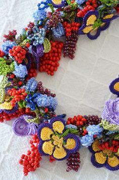 oya crochet beads necklace