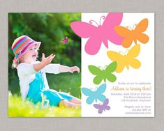 Butterfly Invitation Butterfly Birthday by thepaperblossomshop