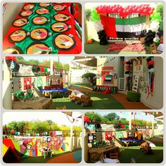 Handmade décor by the children for UAE National Day celebrations at the nursery and preschool. They love to get creative with arts and crafts.
