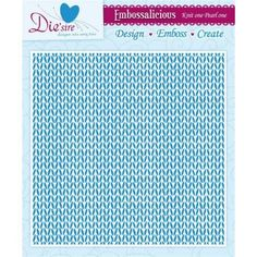 Embossing folder with knitting