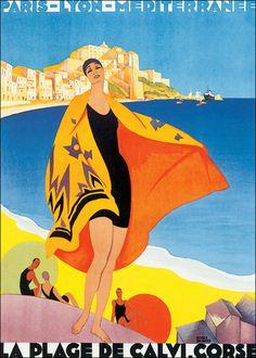 Am Strand mit Bette: Reiseplakate der dreißiger Jahre - Reise - FAZ