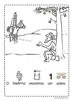 Ser Mais!: S. Martinho Kindergarten, Crafts For Kids, School, Saints, Autumn, Halloween, Autumn Activities, Teaching Writing, Worksheets