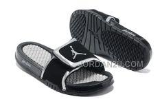 39005ca061e3b 2013 New Nike Jordan Hydro 2 Slide Sandal Black Silver White Sports Shoes  Shop