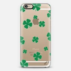 Lucky 4 Leaf Clover iPhone 6 case by Love Lunch Liftoff | Casetify - take $10 off with promo code QJ3PX9 - FREE SHIPPING TOO!