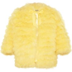 Meadham Kirchhoff Louise marabou feather jacket ($1,689) ❤ liked on Polyvore featuring outerwear, jackets, coats, fur, tops, meadham kirchhoff, fur jacket, feather jacket, oversized jacket and 3/4 sleeve jacket