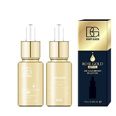 Natural Makeup - Beauty Glazed 24K GOLD INFUSED BEAUTY OIL Primer Foundation Rich in Vitamin A #NaturalMakeupRemoverForSensitiveSkin