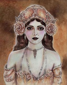 ORIGINAL vintage style 1920s woman By by TheArtOfReneeLLavoie