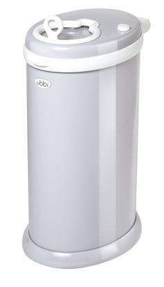 Ubbi Diaper Pail, Gray - seriously, no smell! We use the Ubbi liners, and cloth diapers.