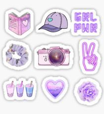 Aesthetic Purple Stickers With Images Coloring Stickers