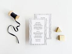 printable modern wedding menus by hello tenfold