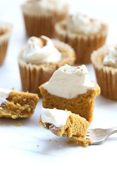 Delicious creamy pumpkin pie filling becomes a healthy cupcake. Low carb and gluten-free. With @safeway #peanutsmovie #ad